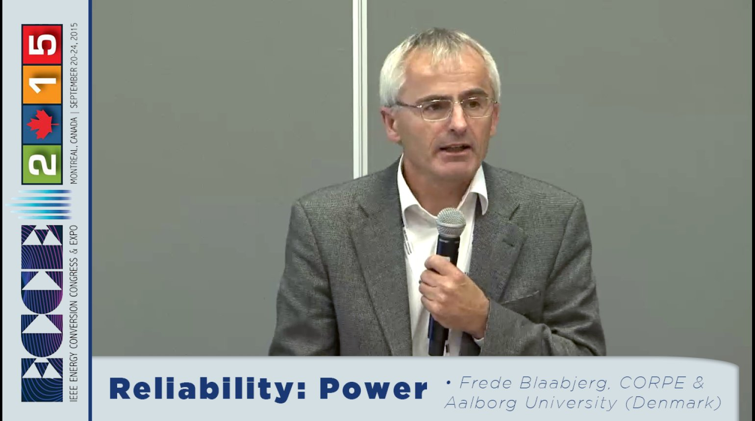 Design for Reliability of Power Electric Systems: Tutorial with Frede Blaabjerg, Huai Wong and Ke Ma