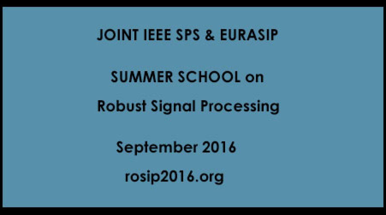 IEEE SPS Summer School 2016