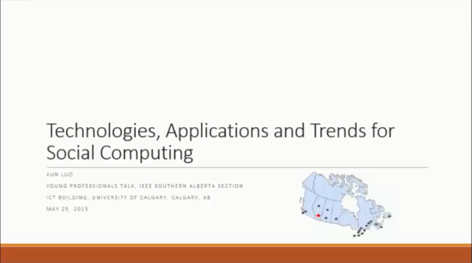 Xun Luo - University of Calgary Talk