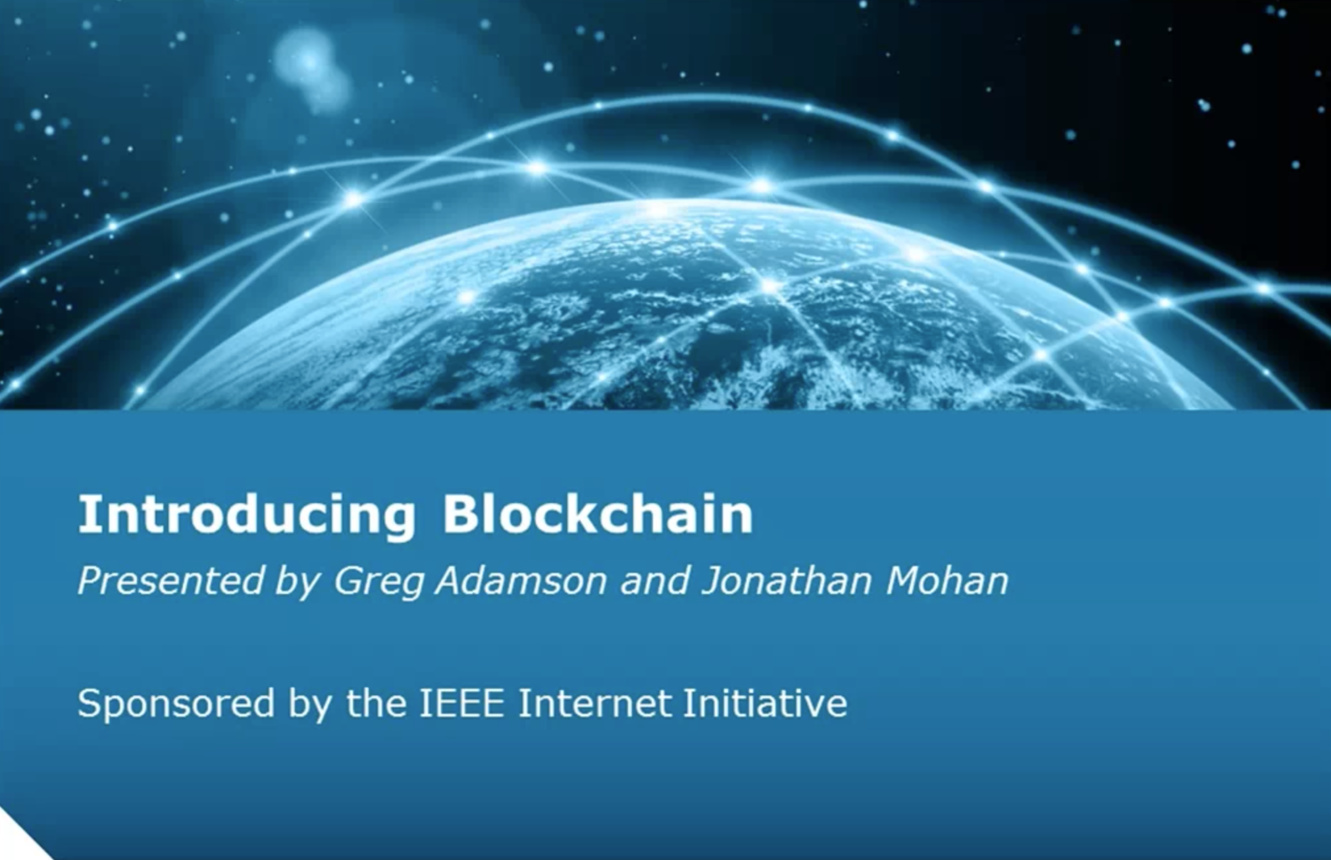 Introduction to Blockchain (webinar)