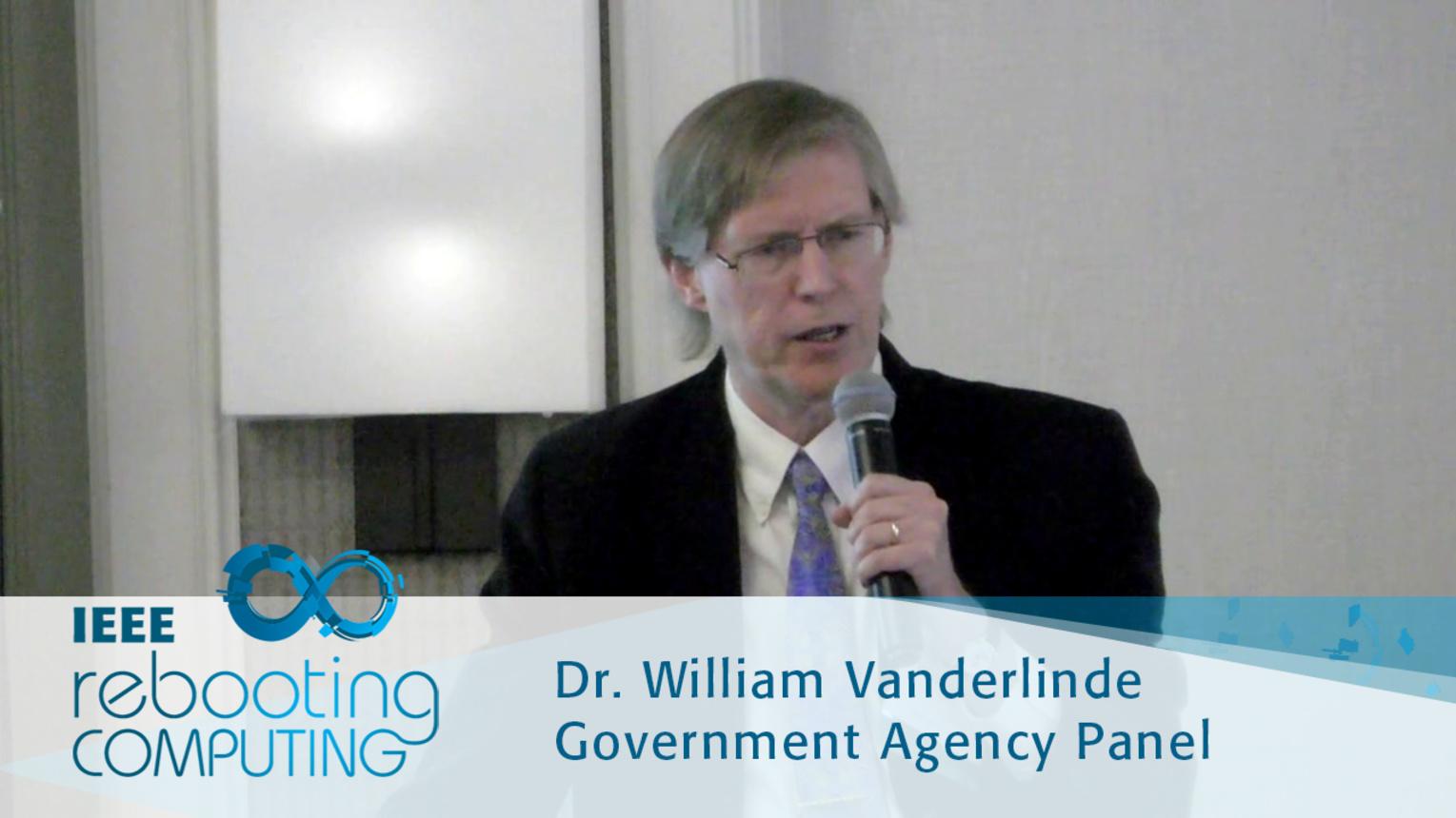 Computing Beyond Moore's Law - William Vanderlinde: 2016 International Conference on Rebooting Computing