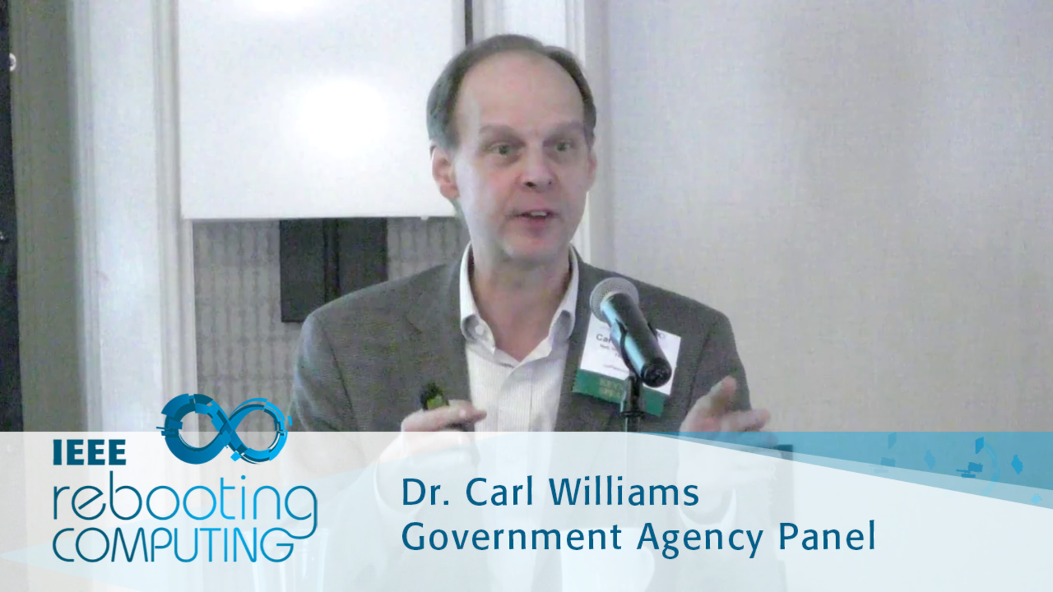National Strategic Computing Initiative - Carl Williams: 2016 International Conference on Rebooting Computing