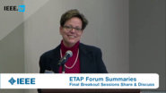 Reports from Breakout Sessions: ETAP Forum, February 2016