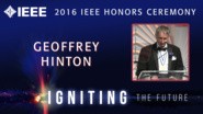 Geoffrey Hinton receives the IEEE/RSE James Clerk Maxwell Medal - Honors Ceremony 2016