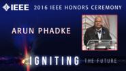 Arun G. Phadke receives the IEEE Medal in Power Engineering - Honors Ceremony 2016