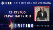 Christos H. Papadimitriou accepts the IEEE John von Neumann Medal - Honors Ceremony 2016