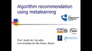 Algorithm recommendation using metalearning