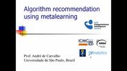 Algorithm recommendation using metalearning