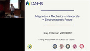 Magnetics + Mechanics + Nanoscale = Electromagnetics Future - Greg P. Carman: IEEE Magnetics Distinguished Lecture 2016
