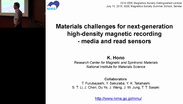 Materials Challenges for Next-Generation, High-Density Magnetic Recording - Kazuhiro Hono: IEEE Magnetics Distinguished Lecture 2016